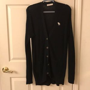 Abercrombie & Fitch Navy Blue Oversized Cardigan